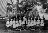 Picture of / about 'Stafford' Queensland - Group of children dressed up for a patriotic concert at Stafford State School, Brisbane, 1915