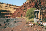 Picture relating to Wittenoom Gorge Mine - titled 'Wittenoom Gorge Mine'