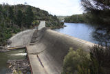 Picture relating to South Esk River - titled 'Trevallyn Dam, South Esk River'