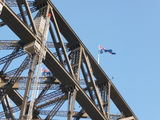 Picture relating to Sydney Harbour Bridge - titled 'Two Australian flags flying proudly on top of the Sydney Harbour Bridge'