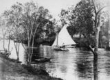 Picture relating to Brisbane - titled 'Boating at Breakfast Creek, Brisbane, 1910-1920'