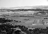 Picture relating to Anzac Parade - titled 'View from Mt Ainslie down Anzac Parade'