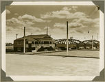 Picture relating to Bundaberg - titled 'Looking towards the Burnett River Traffic Bridge, Bundaberg, ca. 1930'