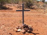 Picture relating to Barrow Creek - titled 'Peter Falconio Memorial ?'