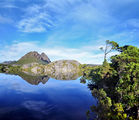 Picture relating to Cradle Mountain - titled 'Cradle Mountain NP - Twisted Lakes looking towards Little Horn'
