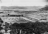 Picture relating to Mount Ainslie - titled 'Reid from Mount Ainslie, Civic Centre buildings on right.'