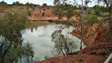 Picture relating to Cobar - titled 'Old Open cut copper mine Cobar'