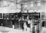 Picture relating to Charters Towers - titled 'Interior of the School of Mines laboratory, Charters Towers, Queensland, 1908'