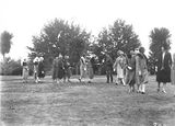 Picture relating to Duntroon - titled 'Royal Visit, May 1927 - A party of ladies and nurses being presented to the Duke of York at Duntroon.'