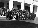 Picture relating to Parliament House - titled 'Labour members at Old Parliament House'