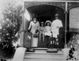 Picture relating to New Farm - titled 'Portrait of the Heindorff family in the entrance of their home at New Farm, Brisbane, 1903-1913'