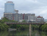Picture relating to Parramatta River - titled 'Macarthur Street bridge, Parramatta River'