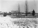 Picture relating to Canberra - titled 'Hotel Canberra under snow .'