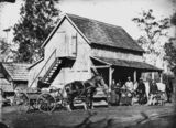 Picture relating to Bethania - titled 'German immigrant family on their farm, Bethania area, 1872'