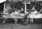 Picture relating to Yarraman - titled 'Fete stall at Yarraman about 1923'