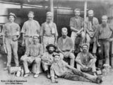 Picture relating to Charters Towers - titled 'Portrait of a group of miners at Charters Towers, Queensland,ca.1890'