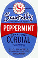 Picture relating to Queensland - titled 'Sawtell's Peppermint Cordial label'