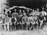 Picture relating to Newmarket - titled 'Portrait of staff from Poultney's Sawmill at Newmarket, Brisbane, ca.1912'