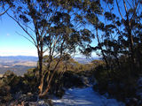 Picture relating to Mount Boyce Weather Station - titled 'Snow at Mount Boyce Lookout'