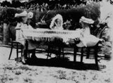 Picture relating to Marlborough - titled 'Children's tea party at Marlborough, Queensland, 1900-1910'