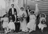 Picture of / about 'Warra' Queensland - Portrait of a wedding party at Warra, Queensland, 1913