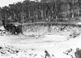 Picture relating to Black Mountain - titled 'View of excavation of reservoir at Black Mountain'