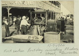 Picture relating to Townsville - titled 'Laying concrete in front of the Central Hotel, Flinders Street, Townsville, 1924'