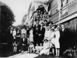 Picture relating to Paddington - titled 'Wedding reception, Paddington, Brisbane, 1926'