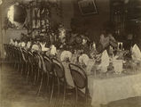 Picture relating to Townsville - titled 'Table set in preparation for a banquet at Queen's Hotel, Townsville, ca. 1885'