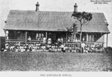 Picture relating to Longreach - titled 'Group photograph of school children at the Longreach School, Longreach, Queensland, 1898'