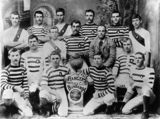 Picture relating to Bundamba - titled 'Rangers Football Club, Bundamba, Winners of the Badges, 1895'