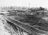 Picture relating to Kingston - titled 'Drainage construction, Telopea and Bowen Park, near Kingston Power Station.'