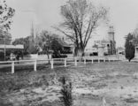 Picture relating to Warwick - titled 'Palmerin Street view as seen from the park, Warwick, ca. 1910'