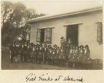 Picture relating to Warwick - titled 'Group of Girl Guides at Warwick, ca. 1930'