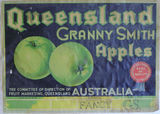 Picture relating to Amiens - titled 'Packing Case Label for Export Granny Smith Apples'