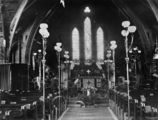 Picture relating to Mackay - titled 'Interior view of the Holy Trinity Church of England, Mackay, Queensland, 1910'