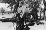 Picture relating to Queensland - titled 'Drover? with his horse and dog, 1910-1920'