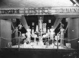 Picture relating to Brisbane - titled 'Lustre lingerie and hosiery display created by the Brisbane Window Display Service, 1937'