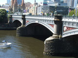 Picture relating to Melbourne - titled 'Princes Bridge,Yarra River,Melbourne'