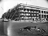Picture relating to Parliament House - titled 'Old Parliament House under construction, north west corner - Plastering in progress.'