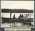 Picture relating to Lake Eacham - titled 'On a boat at Lake Eacham on the Atherton Tableland'