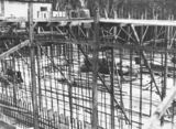 Picture relating to Black Mountain - titled 'Black Mountain reservoir showing steel reinforcement and concrete form work'