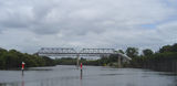 Picture relating to Parramatta River - titled 'Pipe Bridge from Camellia to Rydalmere, Parramatta River'