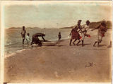 Picture relating to Thursday Island - titled 'Thursday Islanders catching a dugong '