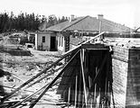 Picture relating to Mount Stromlo - titled 'Buildings under construction, Mount Stromlo.'