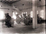 Picture relating to Wentworth Avenue - titled 'Printing machines in the Government Printing Office, Wentworth Avenue, Kingston.'