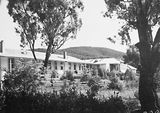 Picture relating to Canberra - titled 'Buildings in the Canberra Community Hospital. Black Mountain behind.'