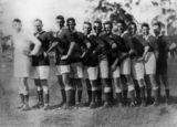 Picture relating to Ipswich - titled 'St Helen's Soccer Team from Ipswich, ca. 1930'