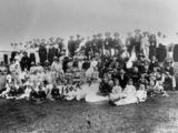 Picture relating to Mount Sylvia - titled 'Sports day at Mount Sylvia, near Ipswich, Queensland, ca. 1890'