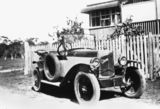 Picture relating to Yeppoon - titled 'Citroen 5CV Torpedo at a home in Yeppoon, Queensland, ca. 1926'
